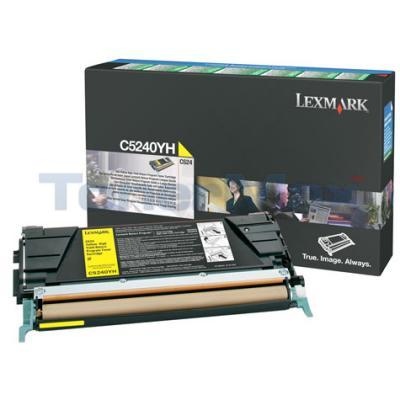 LEXMARK C524 C532 TONER CARTRIDGE YELLOW RP 5K